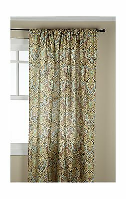 Stylemaster Zoe 56 by 84-Inch Printed Rod Pocket Panel Mocha New