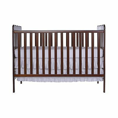 Dream On Me Classic 3 in 1 Convertible Stationary Side Crib Espresso New