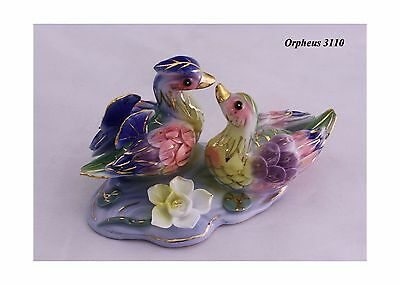 Feng Shui Mandarin Ducks - Hand Crafted and Decorated Chinese Porcelain D... New