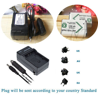 Charger For Sony Cyber-shot DSC-RX100 II HX300 AS100V 2X1600mAh NP-BX1 Battery