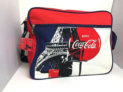 Coca Cola France Messenger Bag RARE Made in USA Discontinued