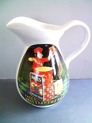 Porcelain  French Pitcher Advertising  Milliat Brothers Freres Pates Pasta
