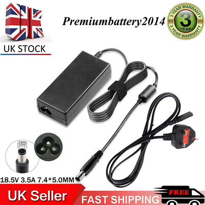 AC Charger for HP EliteBook 2530p 6930p 8440p 8460p 8740w UK Adapter free PLUG
