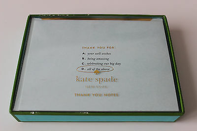 "KATE SPADE ""Thank You All of the Above"" Note Card Set - NEW ** FREE SHIPPING **"