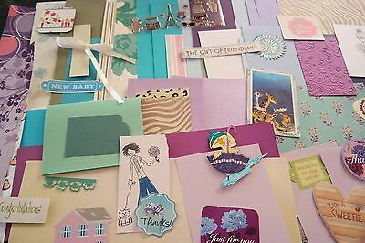 craft, carding making, scrapbooking paper and embellishments over 50 pieces