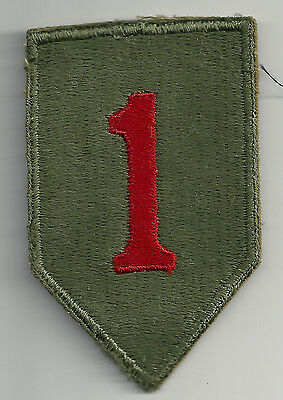 Wwii 1St Infantry Division Ssi Patch Cut Edge Snow Back Insignia Patch Ww2