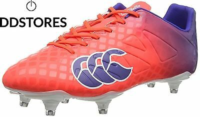 Canterbury Speed Club 6 Stud Chaussures de Rugby Homme Rouge X20 Firecracker...
