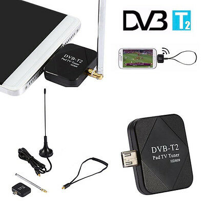 Micro USB DVB-T2 Digital Mobile TV Tuner Receiver + Antenna for Android 4.0-6.0