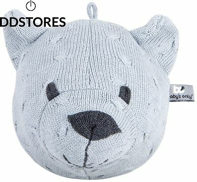 Baby s Only Trophée tête d ours Collection Tricot Uni Gris