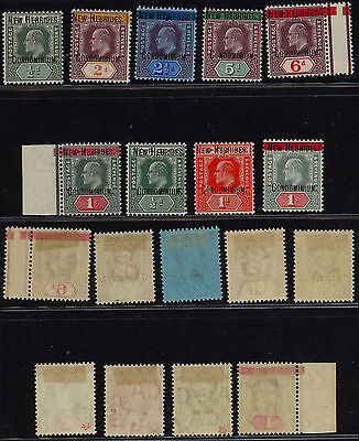 New Hebrides 1908 - Yv # 6/14 Surcharge - MH Stamps