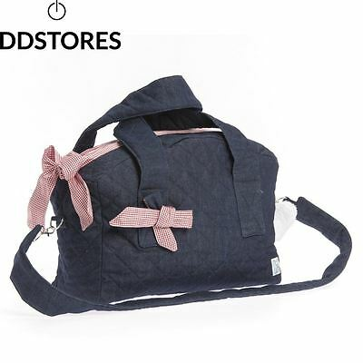 Therese Accessoires Jeans Karo Sac à langer Rouge 40 x 29 cm