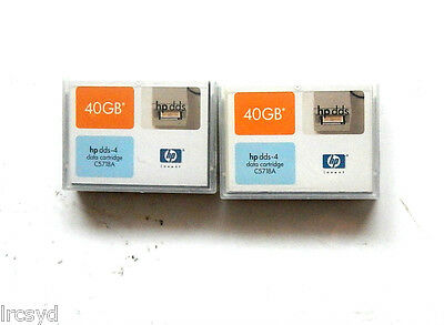 2x HP DDS4 C5718A Tape Cartridge for backups FAST delivery SYD.