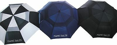 """3Pack 60"""" Double Canopy Golf Umbrellas"""