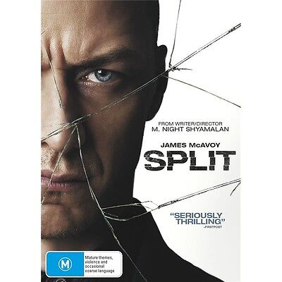 SPLIT-DVD-James McAvoy-Region 4-New AND Sealed