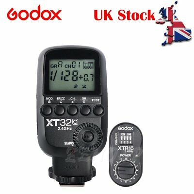 UK Godox XT32C 2.4G Wireless Trigger+XTR-16 Receiver for QT600 SK400 DE300 Kit