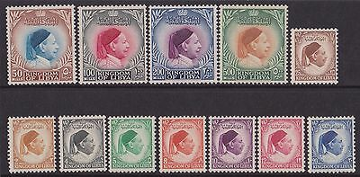 Libya 1952 - Re Idris 126/137 MNH