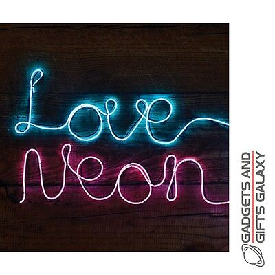 MAKE YOUR OWN FLEXIBLE STRING NEON LIGHT DECORATION PINK Gadgets gifts & games