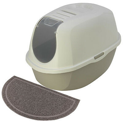 Maison Toilette Chat/bac Litière Pour Chat-Filtre + Tapis As97417Fi+As97421Tap