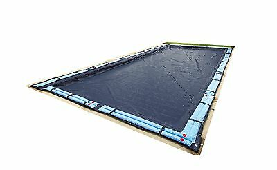 Blue Wave Bronze 8-Year 20-ft x 40-ft Rectangular In Ground Pool Winter C... New