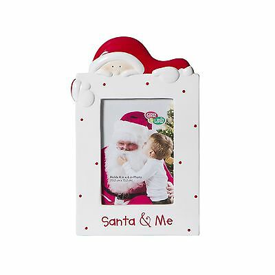 CRG Ceramic Tabletop Photo Frame Gibby and Libby/Santa and Me New