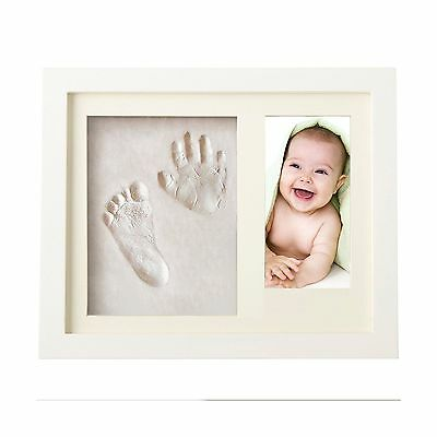 Baby Hand Print Frame - Shower Gift Set - Wall Keepsake - Non Toxic and S... New
