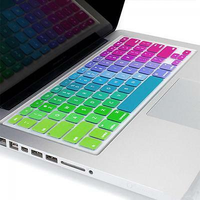 Silicone Rainbow Keyboard Cover Skin for Macbook Air 13'' Macbook Pro 13'' 15''