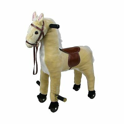 Happy Trails 80-90WALK Plush Walking Horse with Wheels and Foot Rest New