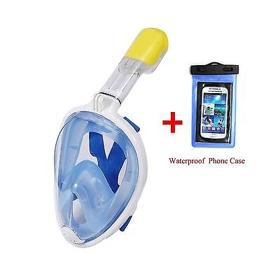 180 Panoramic Snorkel Mask Full Face Free Breathing Anti-Leak Anti-Fog De... New