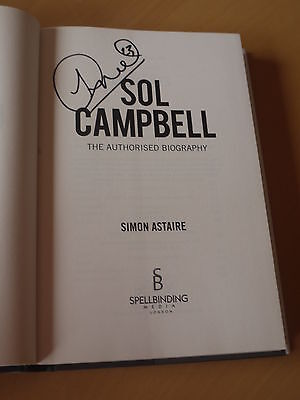 Sol Campbell signed Autobiography - Arsenal & England Football Legend - Proof