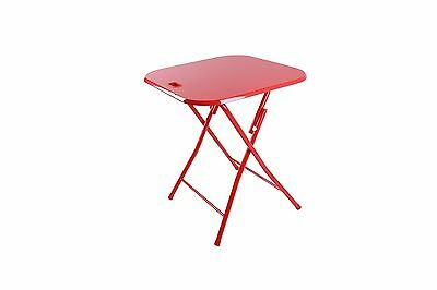 Dar Folding Table with Handle Red New