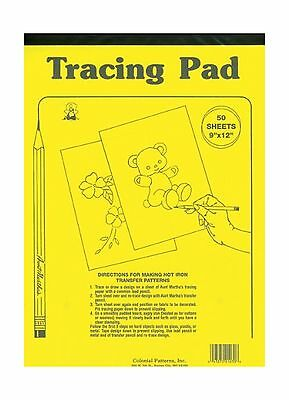 AUNT MARTHA's 8.5-Inch by 12-Inch Tracing Paper 50-Sheet New