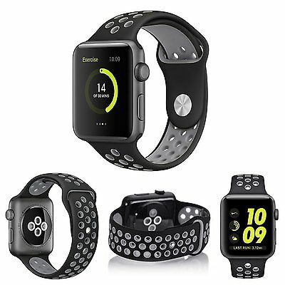 Apple Watch Series 2, Series 1 Soft Silicone Wrist Strap Replacement Band 42mm