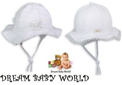 RICH Cotton girls sun hat bonnet Spring Summer TIE UP Baby CAP CHRISTENING