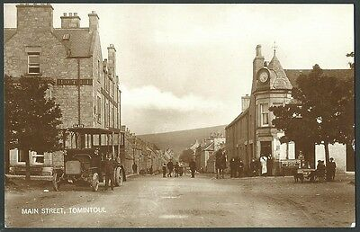 Tomintoul Moray Main Street Vintage Real Photo Postcard