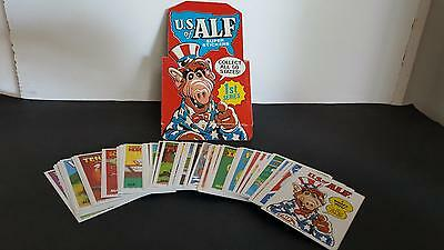 1987 U.S of ALF 51 card/stickers base set in near mint/mint condition