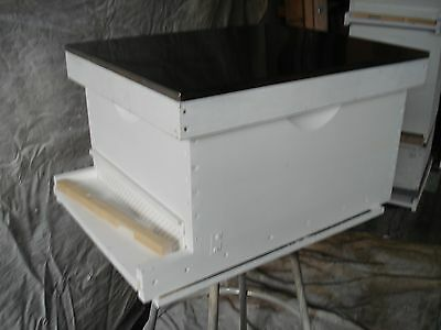 Langstroth 10 Frame Bee Hive w/ frames and wax coated plastic foundation.