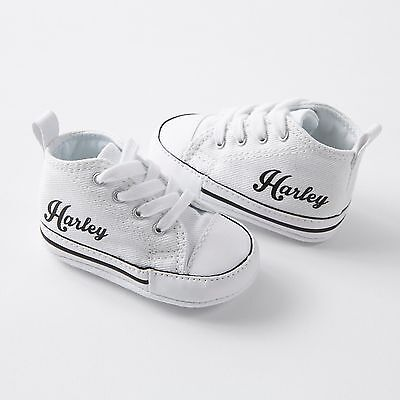 Baby Converse Sneakers WHITE, Add Baby Name by Nappy Head