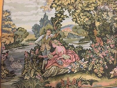 """New European Antique French Pastoral Love tapestry Wall Hanging 83"""" x 28"""""""