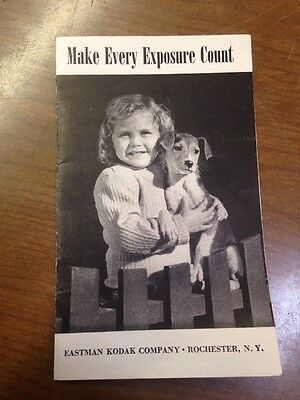 VINTAGE EASTMAN KODAK ADVERTISING MAKE EVERY EXPOSURE COUNT PAMPHLET No 741 4-44