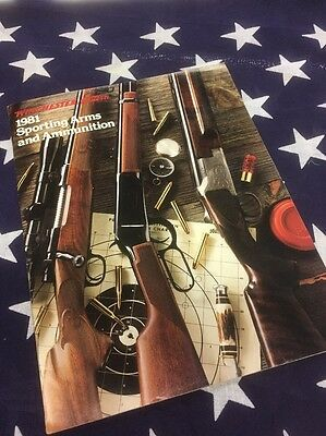 Vintage Advertising Winchester Western Sporting Arms & Ammunition  Catalog 1981