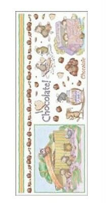 "House Mouse & Friends ""chocolate Time"" Stickers For Cards & Craft"