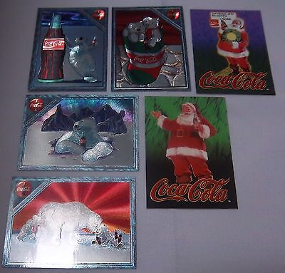 Coca Cola - Traiding Card - 1995 - Polar Bear - Santas - 6 Trading Cards