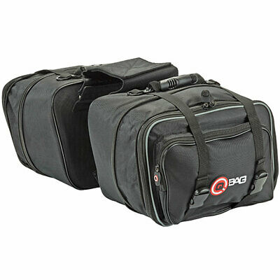 QBag Motorbike Motorcycle Soft Luggage Carrier 20 Litres Pannier Bags - Black