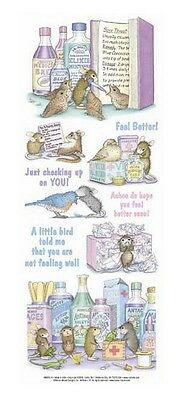 "House Mouse & Friends ""feeling Better"" Stickers For Cards & Craft"