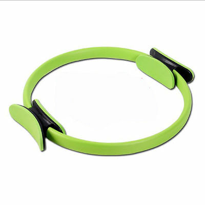 Green Pilates Resistance Ring Circle Gymnastics Yoga Aerobic Double Handle