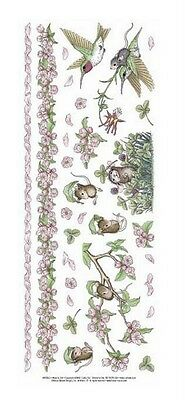 "House Mouse & Friends ""apple Blossom"" Stickers For Cards & Craft"