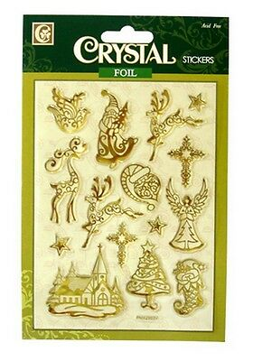 Crystal Foil Christmas Stickers For Cards & Craft