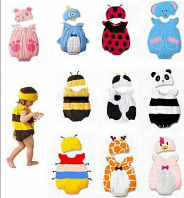 Baby Boy Girl Bee Ladybird Animal Costume Fancy Dress Romper Outfit Summer 6-18m