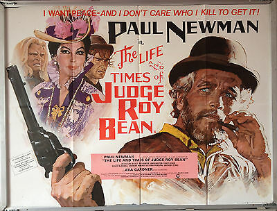 Cinema Poster: LIFE AND TIMES OF JUDGE ROY BEAN 1973 (Quad) Paul Newman