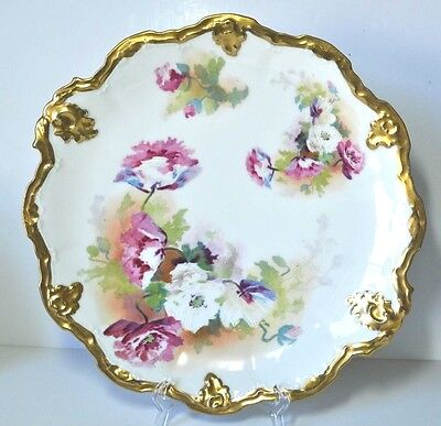 """Antique Limoges Coronet 12.5"""" Charger Cabinet Plate"""